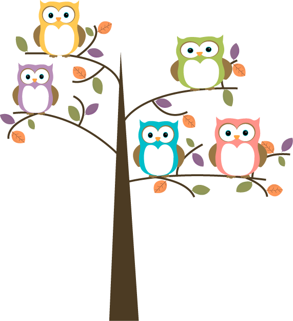 Owls In A Tree PNG