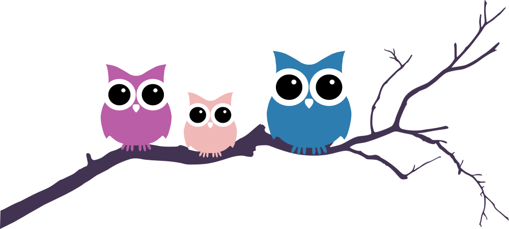 Three Owls Tree Branch - Owls In A Tree PNG