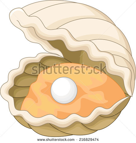 Oyster with a pearl - Oyster Cartoon PNG