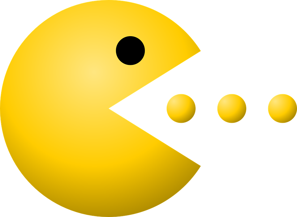 Pacman, Pac-Man, Dots, Game,