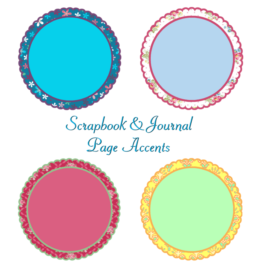 Scrapbook-Journal Scalloped-Accents by Victorian-Lady PlusPng.com  - Page Accents PNG