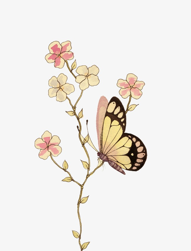 butterfly, Hd, Painted, Painting Free PNG Image - Painting PNG HD