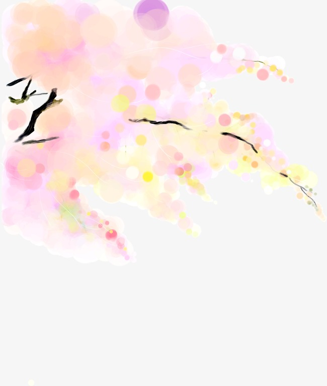 Creative HD flat painting style floral creative rendering, Painted, Flat,  Style Free PNG Image - Painting PNG HD