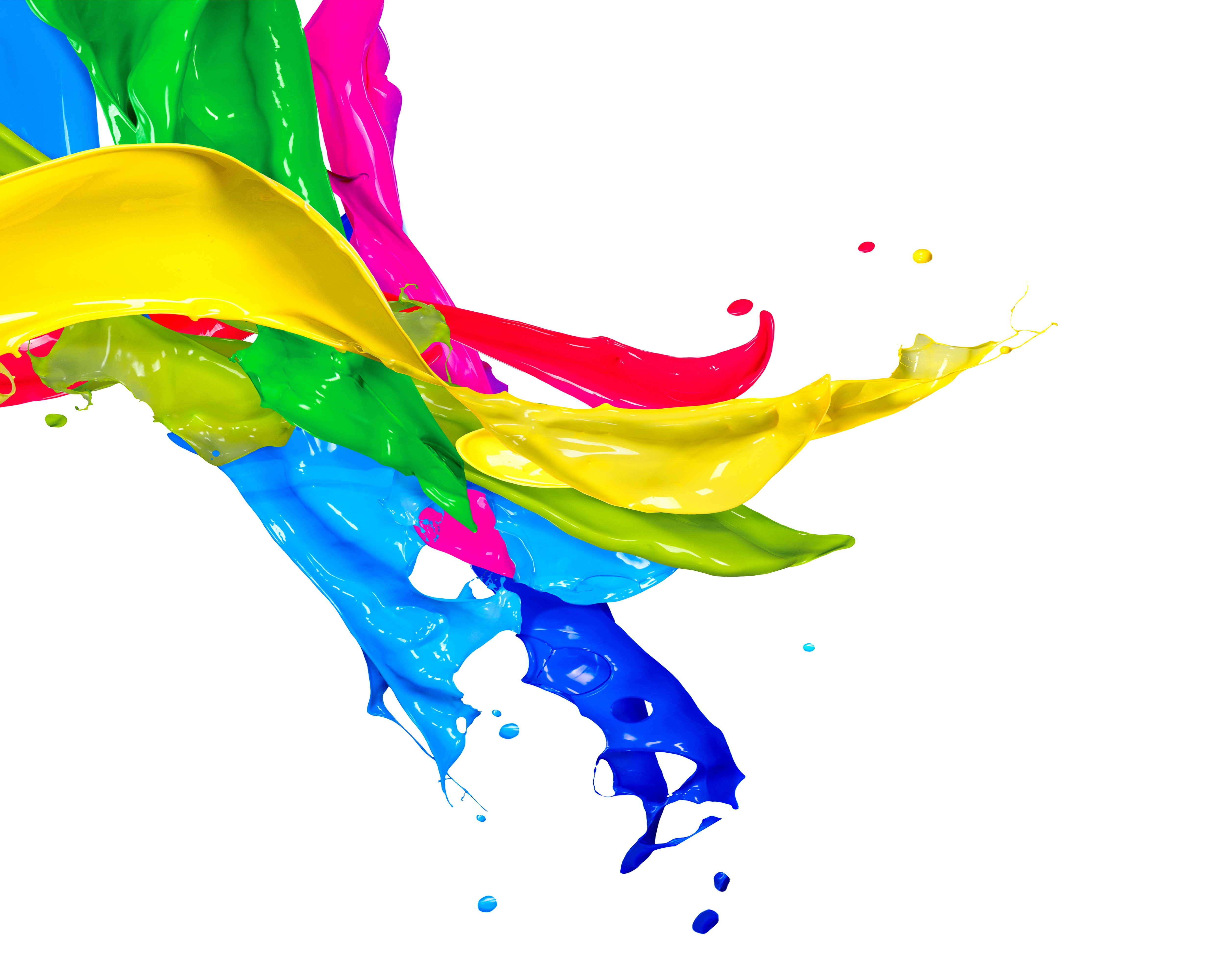 Splat Paint Rainbow Png - Painting PNG HD