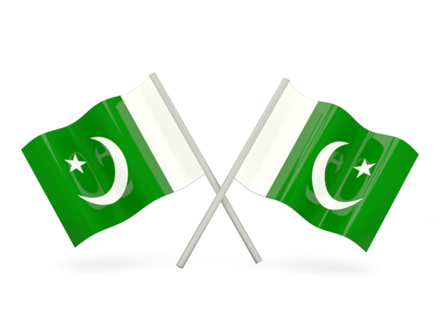 Two wavy flags. Download flag