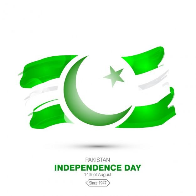 Watercolor pakistan flag back