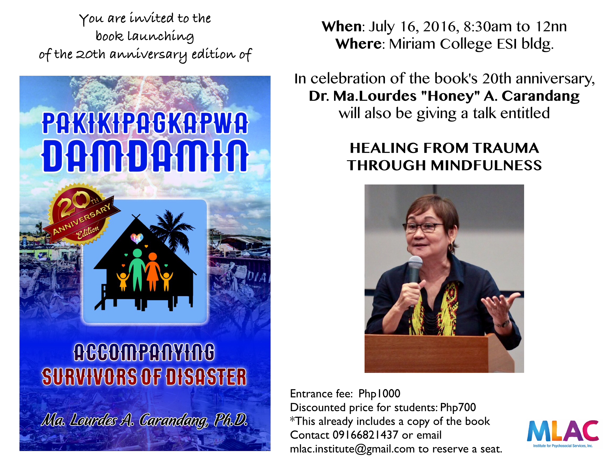 You are all invited to the launch of the 20th anniversary edition of  Pakikipagkapwa-Damdamin on July 16, 2016. Entrance fee already includes a  free copy of PlusPng.com  - Pakikipagkapwa PNG