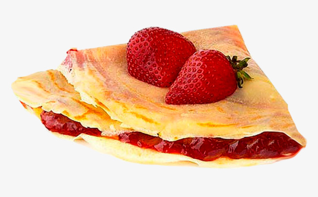 Fruit Pancakes, Strawberry Jam, Fresh Fruit Strawberry, Burrito PNG Image  and Clipart