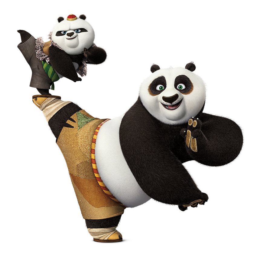 Po and Bao.png - Panda HD PNG