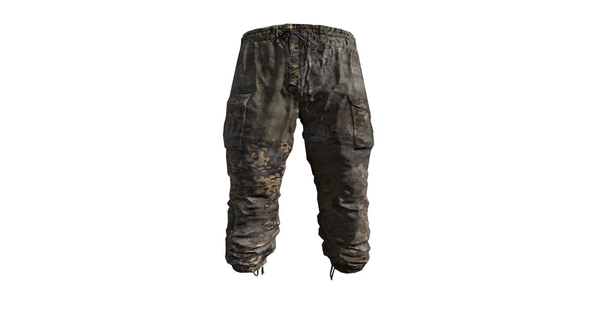 PautRev Camouflage Gorka Military Pants Model (R).png - Pants PNG HD