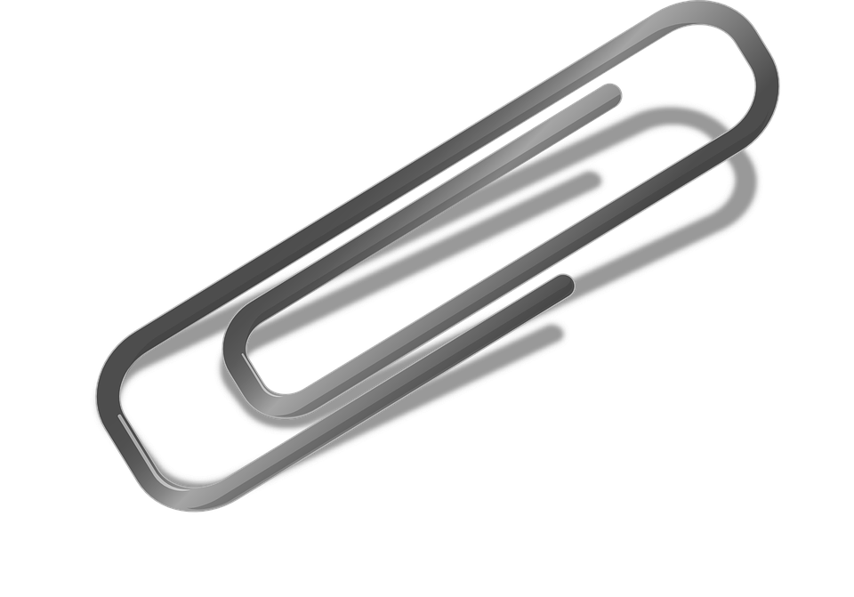 letter clip paperclip help item in the office - Paper Clip PNG Free