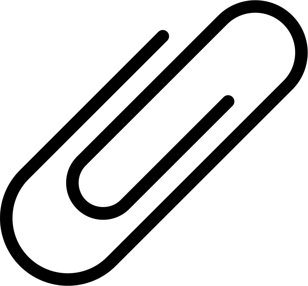 Thin Attachment Paper Clip Comments - Paper Clip PNG Free