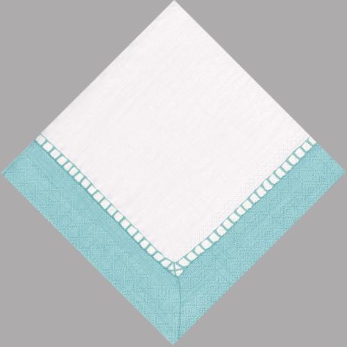 robin\u0027s egg blue linen luncheon napkin - Paper Napkin PNG