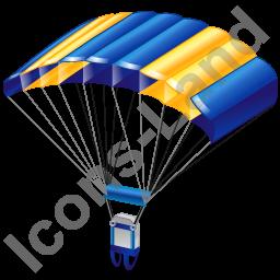 Parachuting Parachute Icon, PNG/ICO, 256x256 PlusPng.com  - Parachute HD PNG