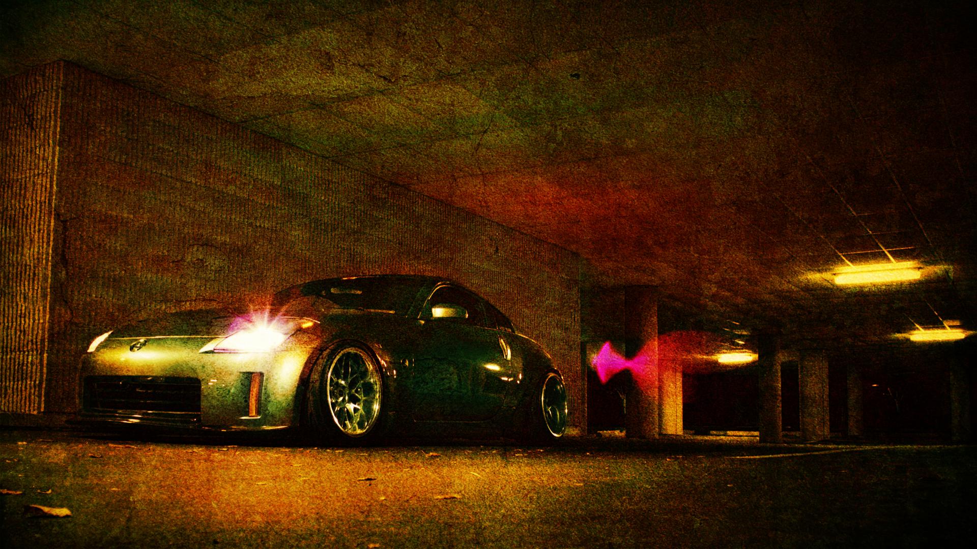 Araçlar - Modifiye Nissan Tuning Parking Lot Underground Noise Duvarkağıdı - Parking Lot PNG HD