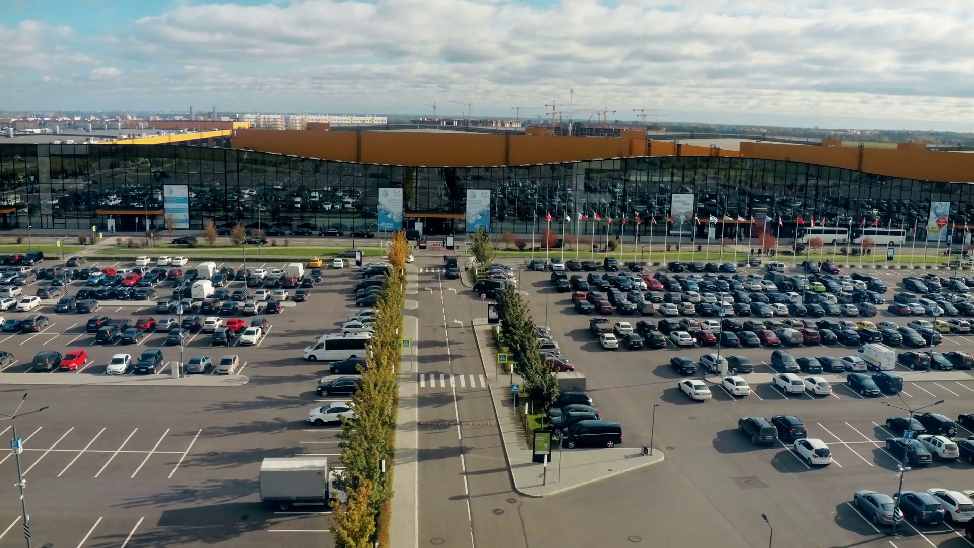 Big parking lot full of cars near large exhibition center Stock Video  Footage - VideoBlocks - Parking Lot PNG HD