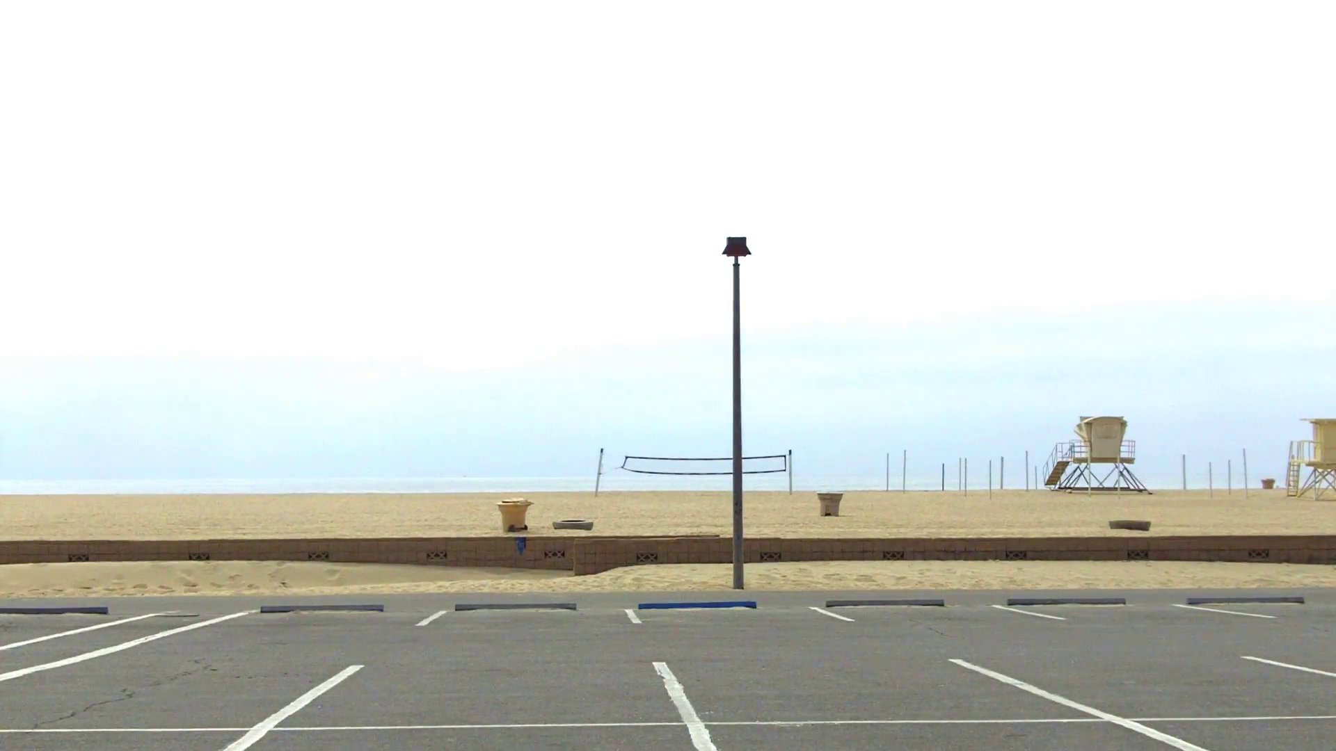 Empty Parking Lot And Beach- Huntington Beach CA Stock Video Footage -  VideoBlocks - Parking Lot PNG HD