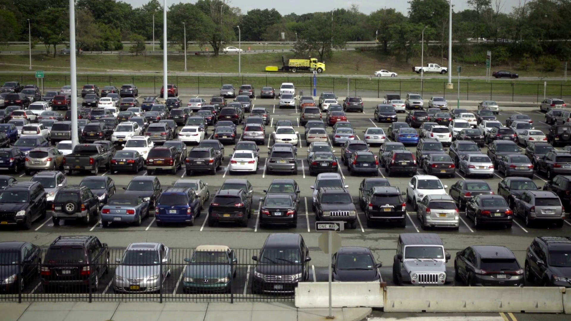 Outdoor Parking Lot Filled With Parked Cars Outside Stock Video Footage -  VideoBlocks - Parking Lot PNG HD