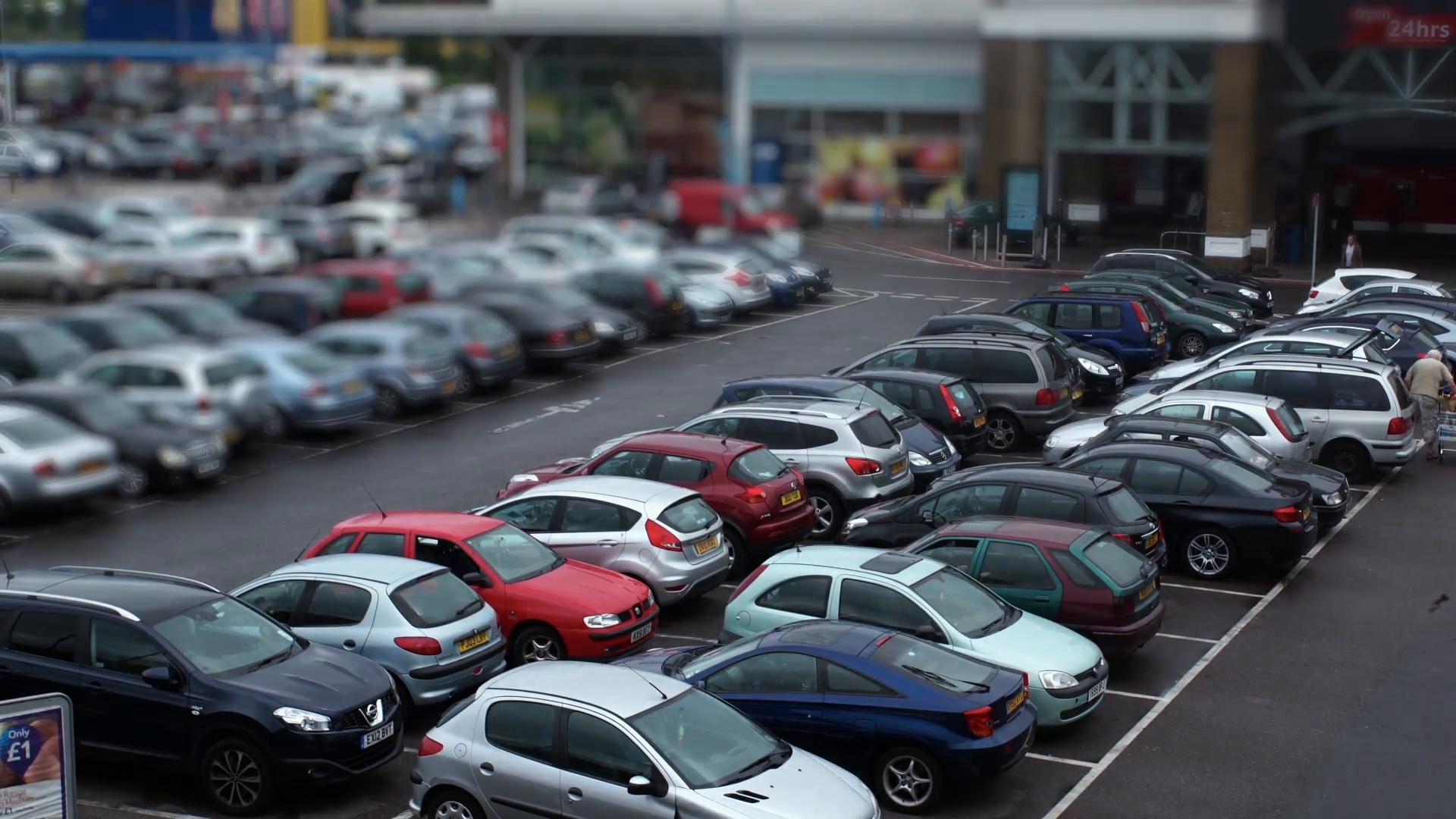 Supermarket Parking lot - Timelapse_Tiltshift v2 Stock Video Footage -  VideoBlocks - Parking Lot PNG HD