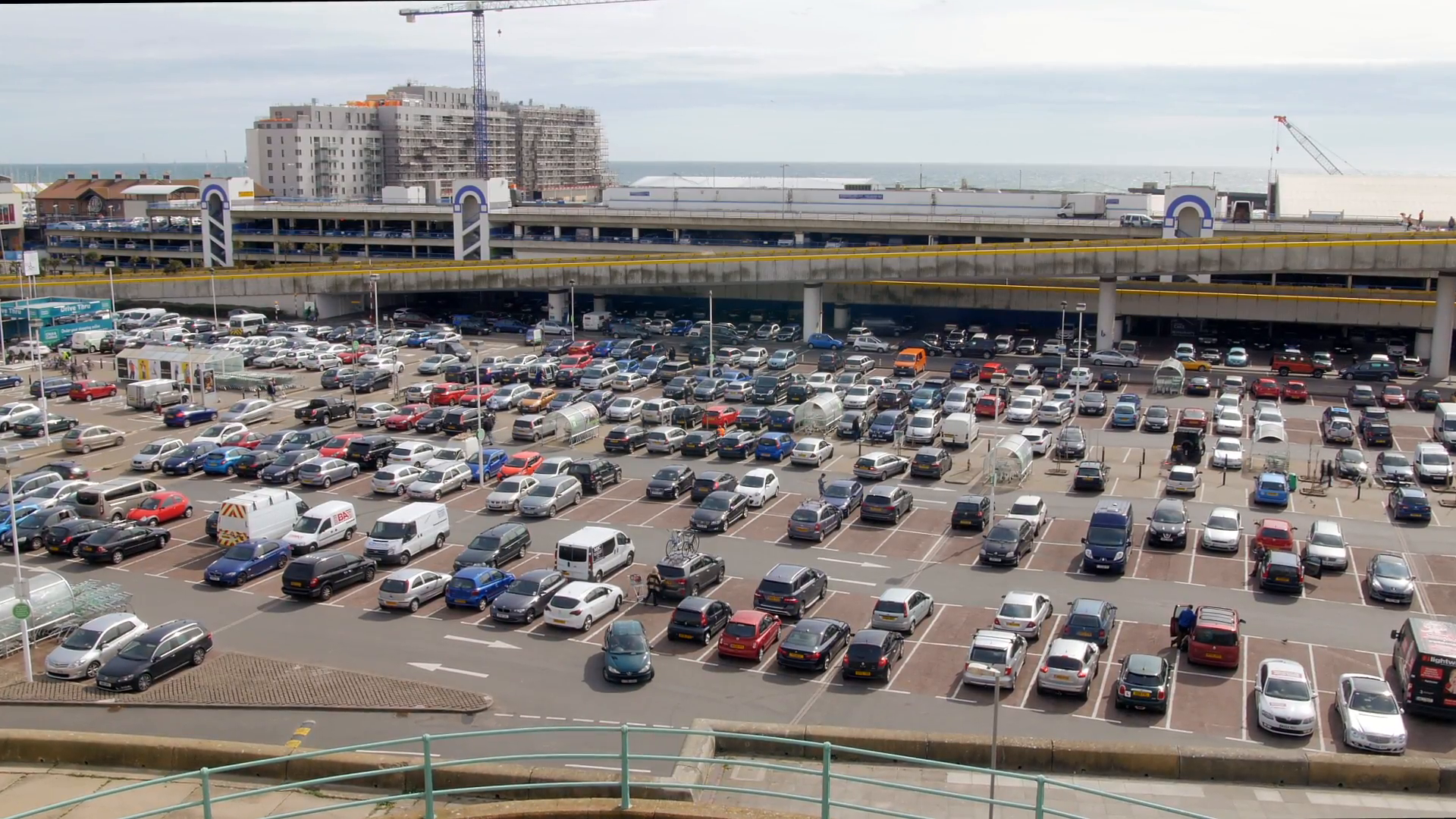 View of a huge parking lot in a shopping mall in Brighton marina Stock  Video Footage - VideoBlocks - Parking Lot PNG HD
