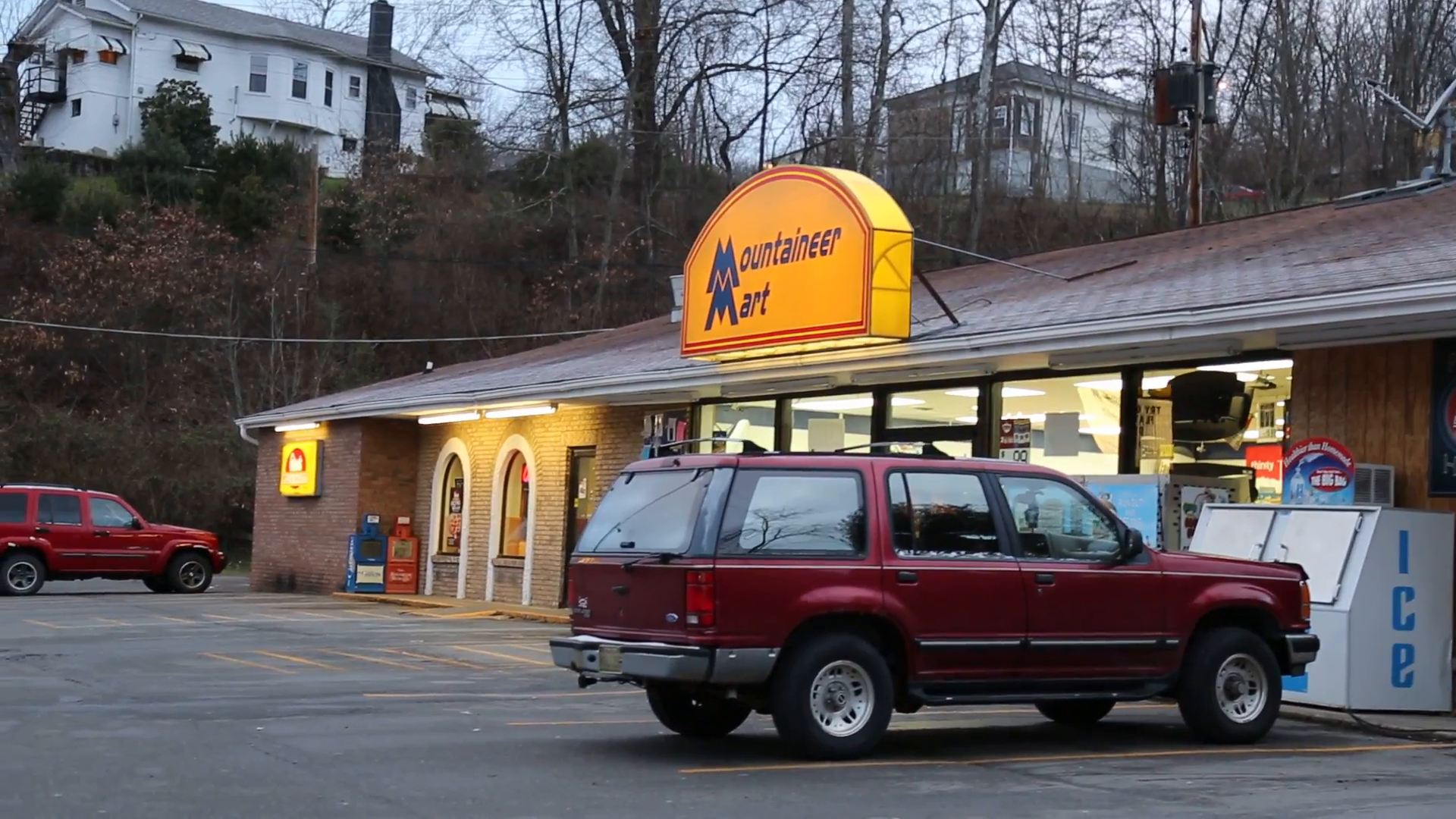 View of Mountaineer Mart store and parking lot (HD) Stock Video Footage -  VideoBlocks - Parking Lot PNG HD