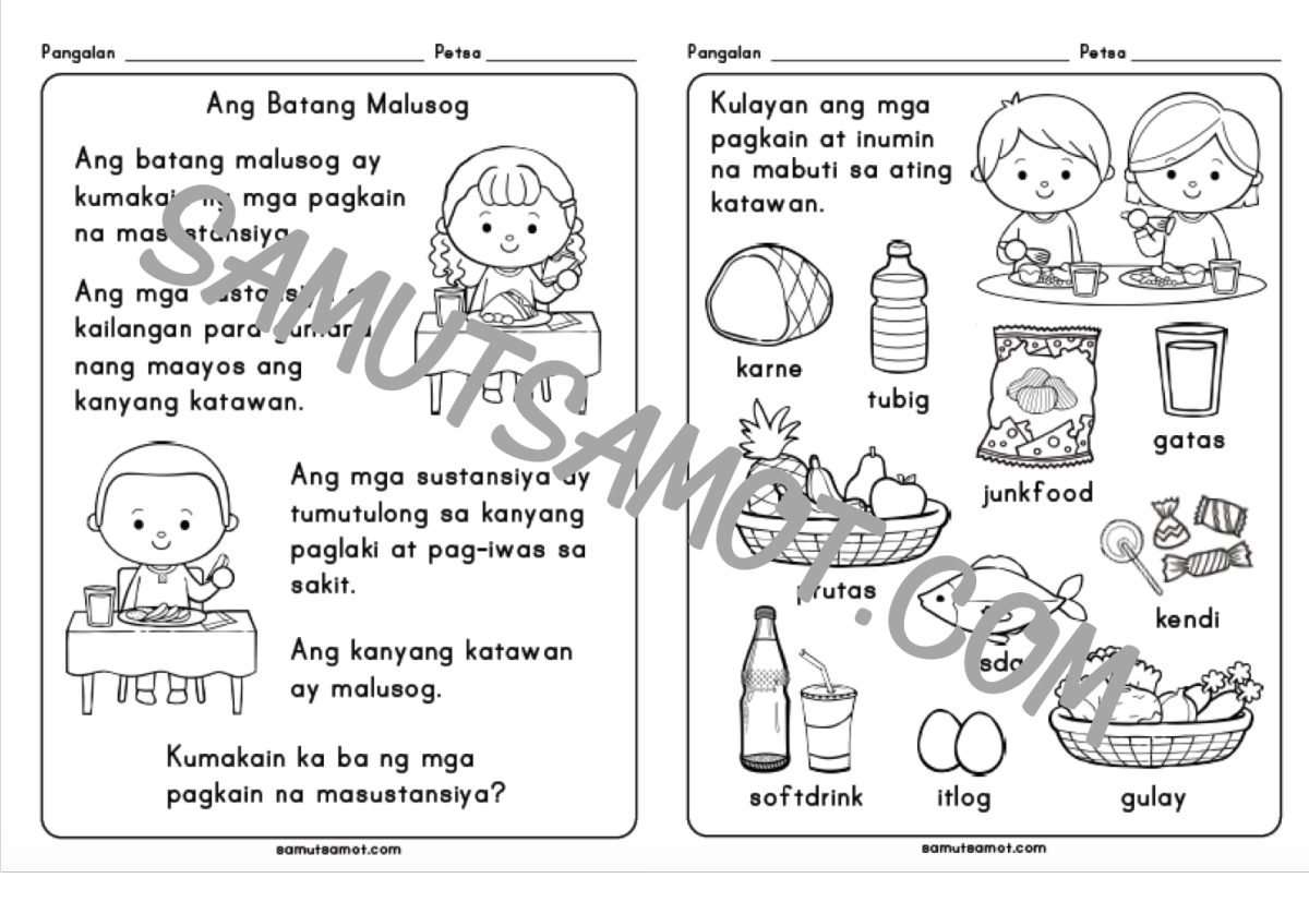 Parts Of The Body For Kids PNG Tagalog - 59282