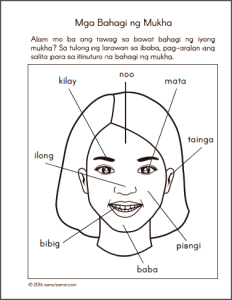 Parts Of The Body For Kids PNG Tagalog - 59286