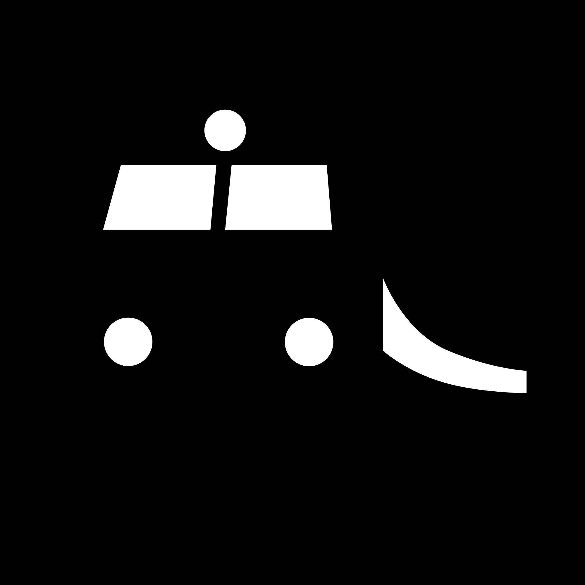 Passenger Train PNG Black And White - 70579