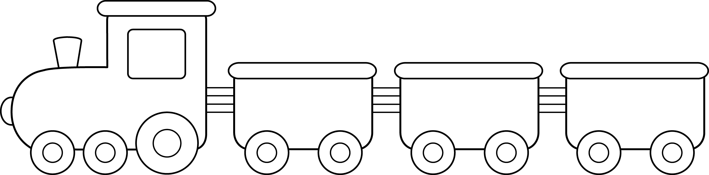 Passenger Train PNG Black And White - 70580