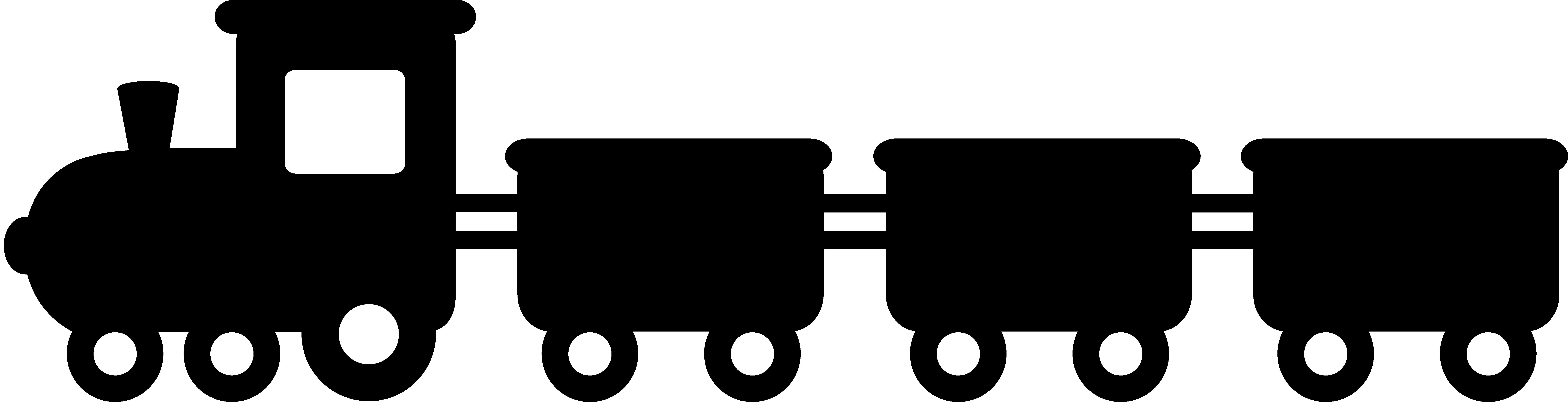 Passenger Train PNG Black And White - 70581