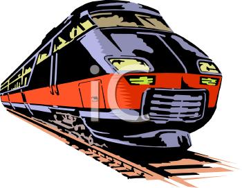 Passenger Train PNG Black And White - 70592