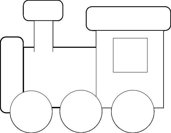 Passenger Train PNG Black And White - 70583