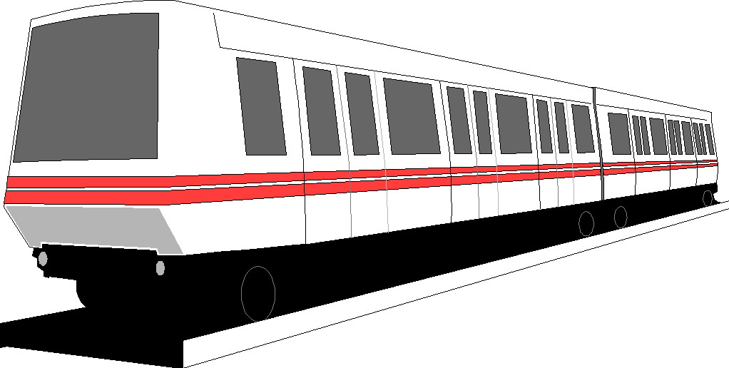 Passenger Train PNG Black And White - 70590