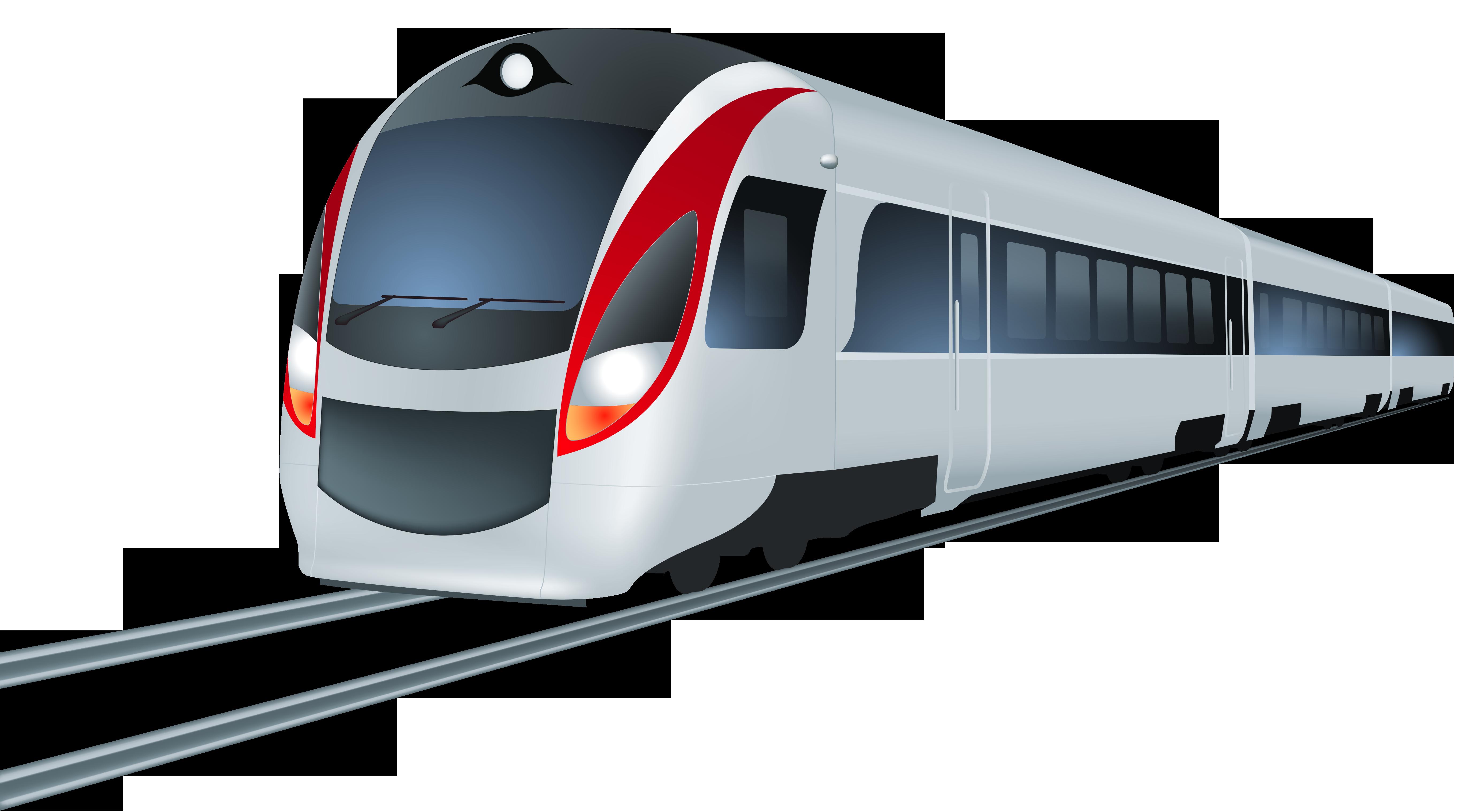 Passenger Train PNG Black And White - 70585