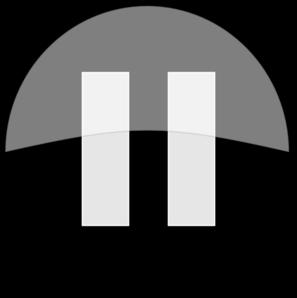 Black Pause Button Clip Art - Pause Button PNG