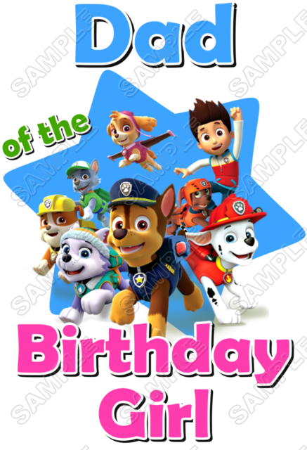 Paw Patrol Birthday Custom Personalized Iron on Transfer #1 - Paw Patrol Birthday PNG