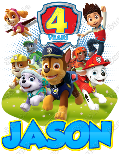 PAW PATROL Birthday Custom Personalized Shirt Iron on Transfer #67 - Paw Patrol Birthday PNG