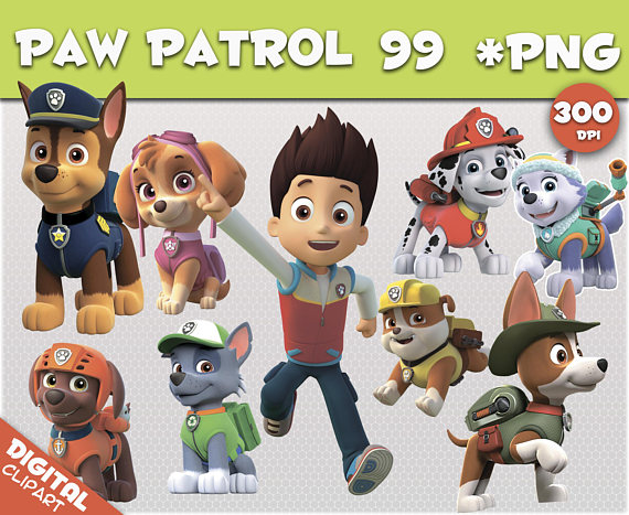 paw patrol clipart 99 PNG 300dpi Images Digital Clip Art Instant Download  Graphics transparent background Scrapbook birthday Nickelodeon from PICOLOR  on PlusPng.com  - Paw Patrol Birthday PNG