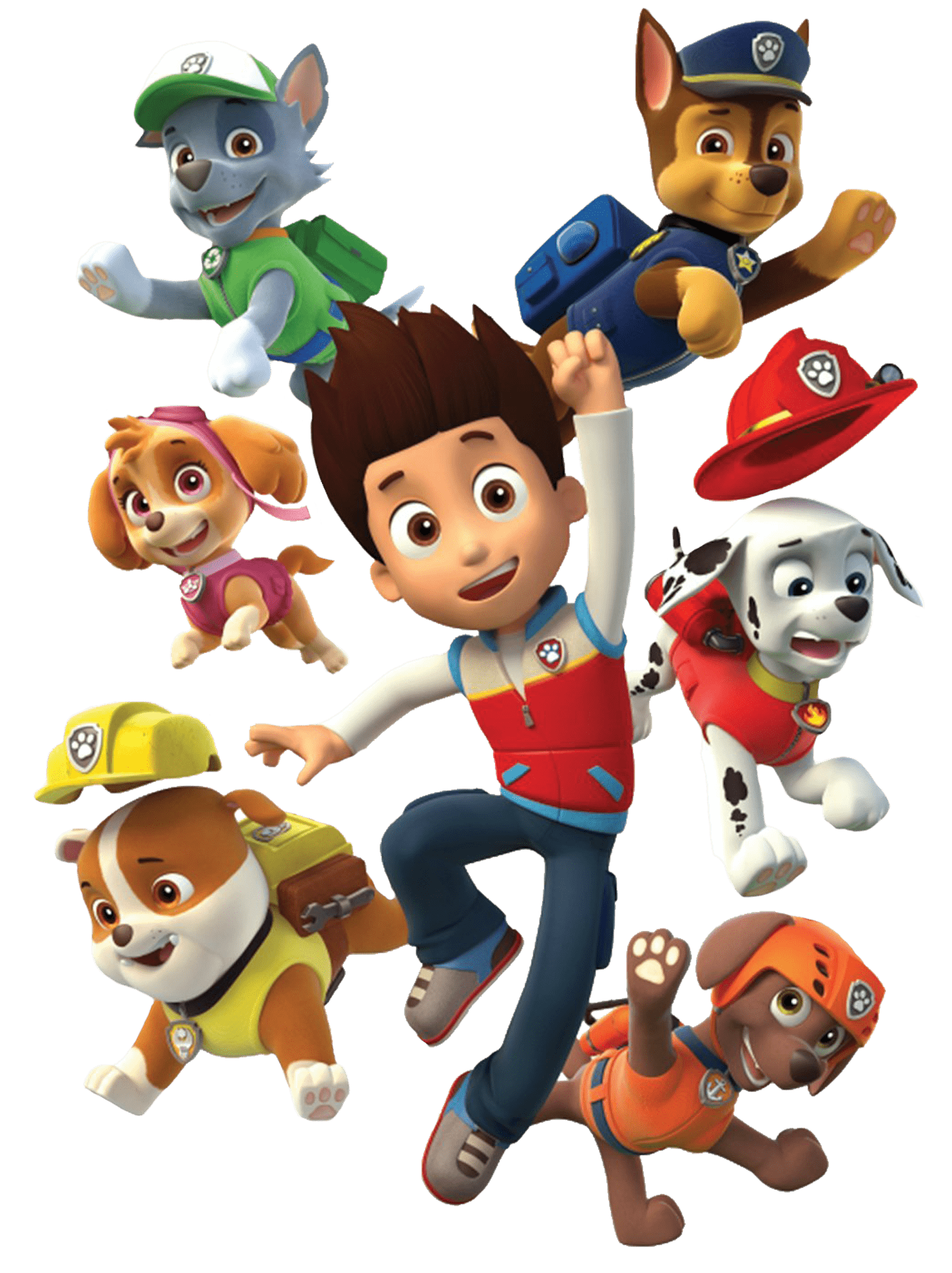 Ryder And His Dogs Paw Patrol Clipart Png - Paw Patrol PNG HD