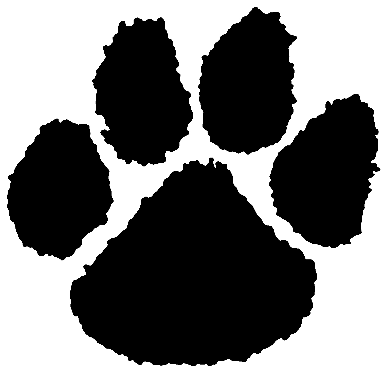 How To Draw A Tiger Paw Print - PNG Tiger Paw - Paw Print PNG HD