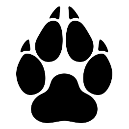 Wolf-paw-print-silhouette.png - Paw Print PNG HD