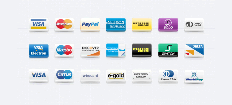Payment Method Icons Set free Pixeden png - Payment Method PNG