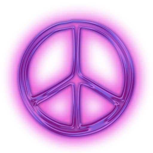 114356-glowing-purple-neon-icon-symbols-shapes-peace-sign-ttf.png - Peace Symbo PNG