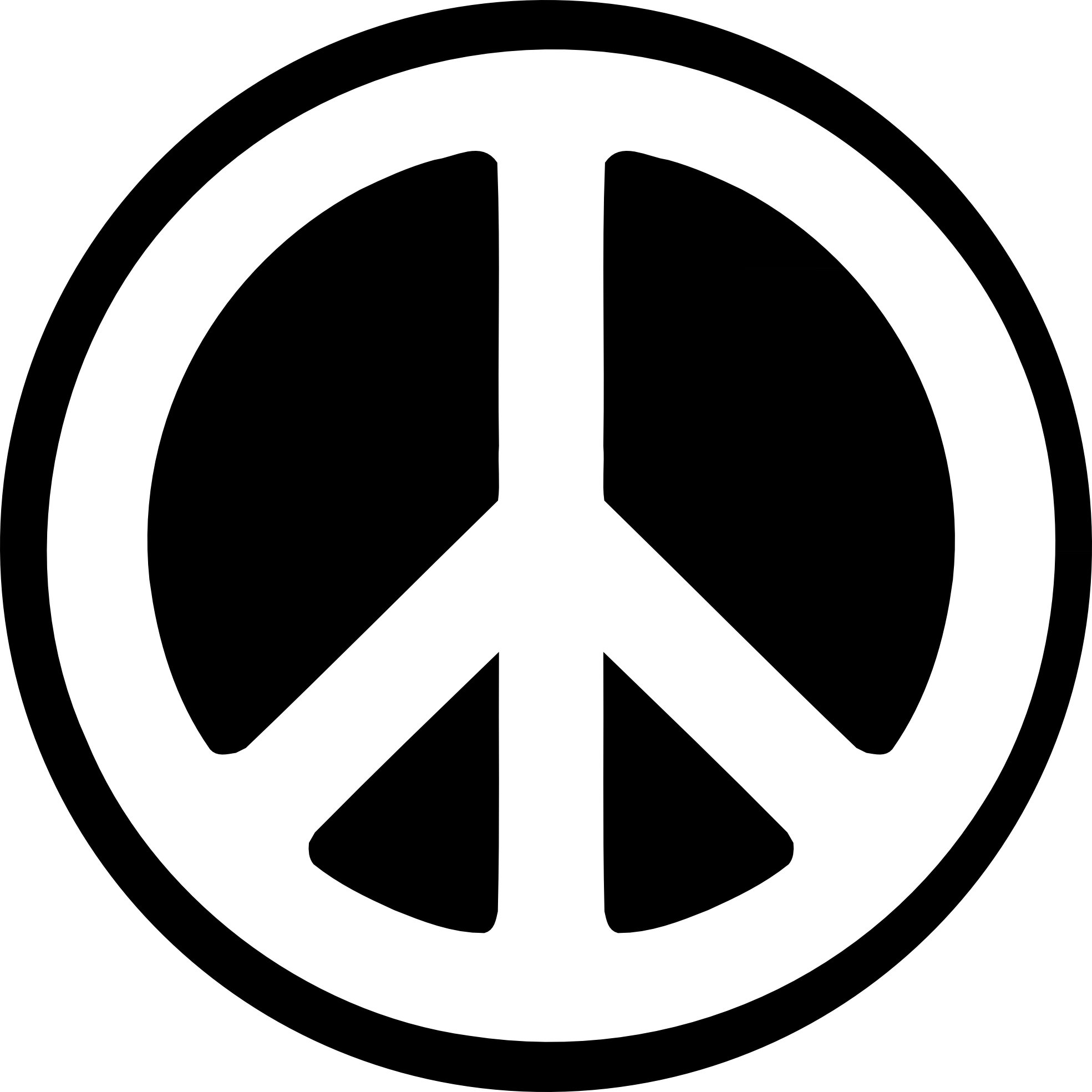 Black White Peace Sign Fav Peace Icon Png - Peace Symbo PNG
