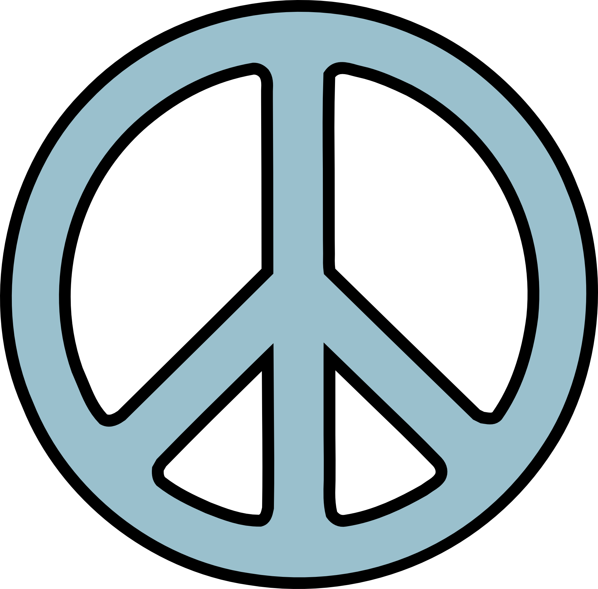 Hand Peace Sign Drawing Clipart - Peace Symbo PNG