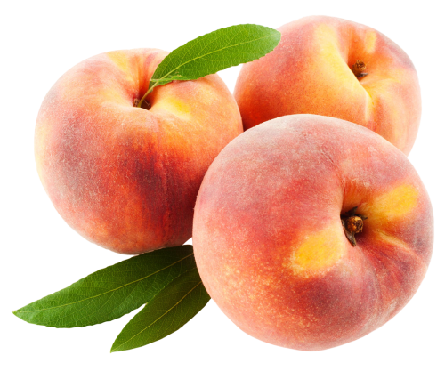Download Peach Fruits with Leafs PNG image - Peach PNG