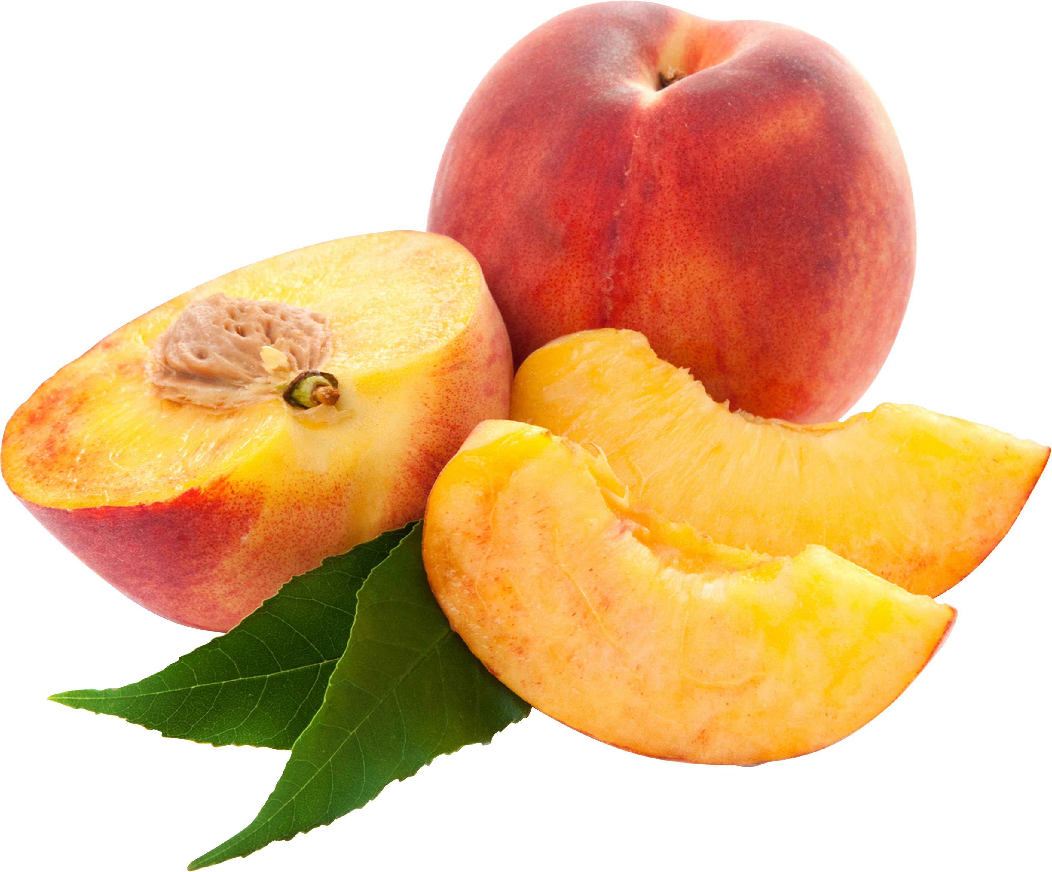 sliced peaches PNG image - Peach PNG
