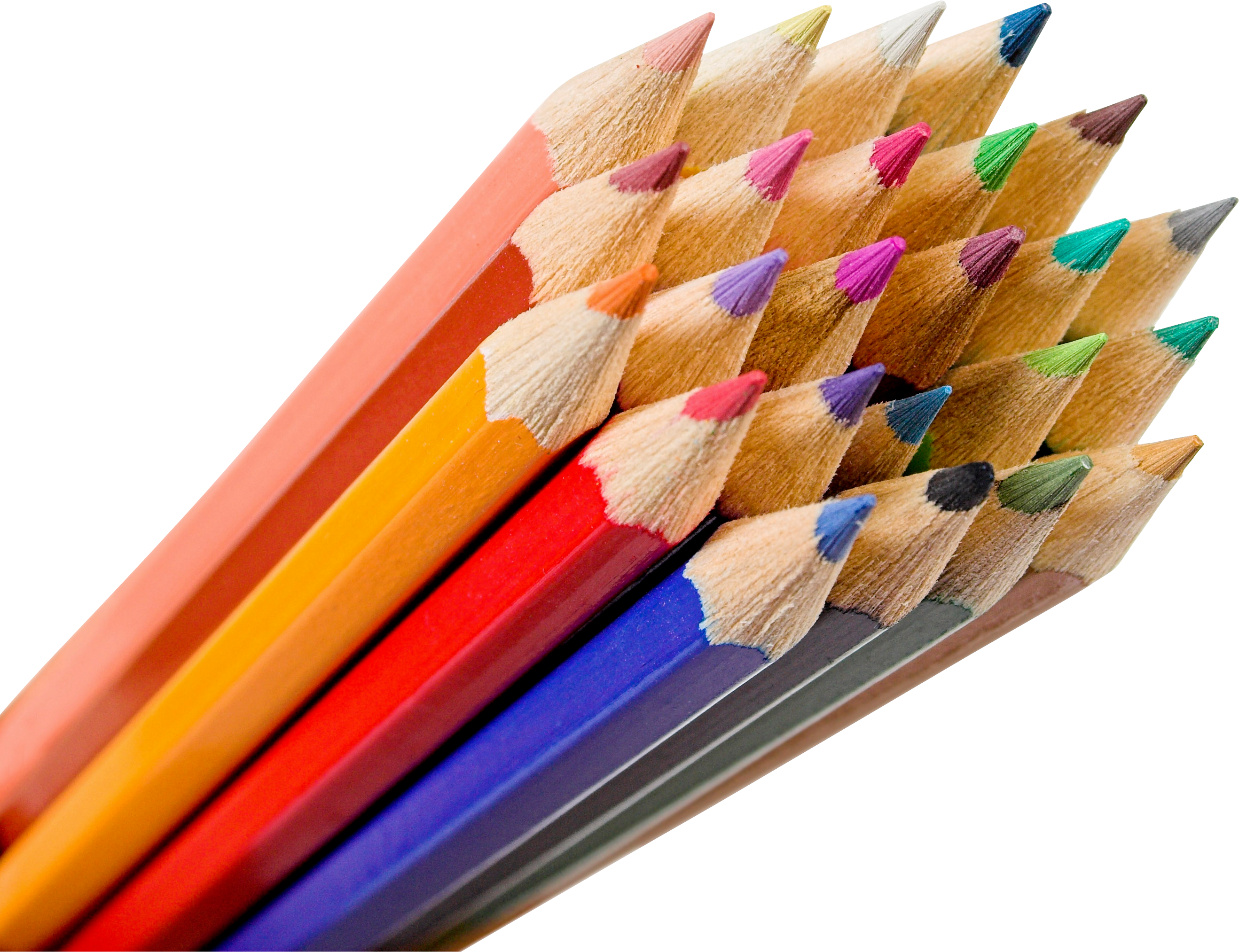 Colorful pencils PNG image - Pencil PNG