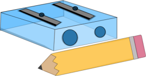 Pencil Sharpener and Pencil - Pencil Sharpener PNG