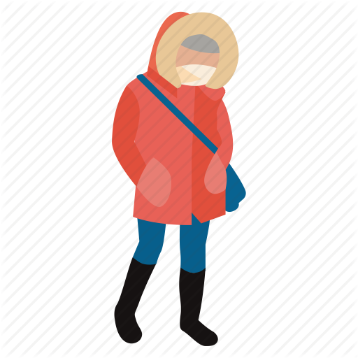 chill, cold, jacket, person, warm, winter, winter wear icon - People In Cold Winter PNG